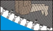 trampoline no gap enclosure system