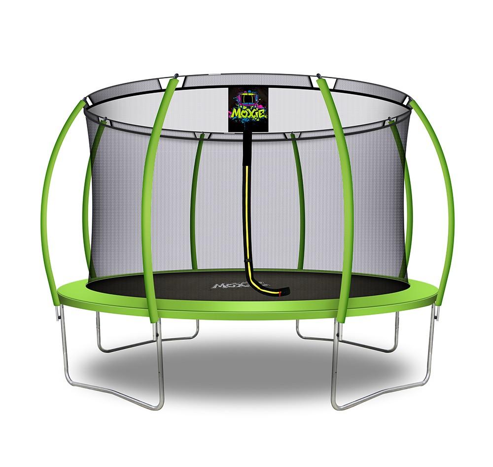 Trampolino Tappeto Elastico a Zucca da Giardino ed Esterno con Rete di Sicurezza - 366 cm - Verde Mela   Moxie