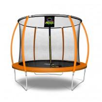 Trampolino Elastico a Zucca da Giardino ed Esterno con Rete di Sicurezza - 305 cm - Arancione   Moxie
