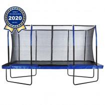 Trampolino Tappeto Elastico Professionale Rettangolare da Giardino Esterno Completo di Rete di Sicurezza | 427 x 244 cm