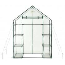 Mini Serra Portatile da Giardino, Orto per Piante Fiori in PVC Trasparente - 6 Ripiani - 143 x 73 x 195 cm