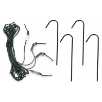 Kit di 4 Picchetti + Corde per Ancoraggio Serra da Giardino | Ancore e Accessori