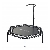 Mini Trampolino Tappeto Elastico Rebounder Esagonale, 127 cm. Fitness Palestra Allenamento Gym - Senza Cuscino