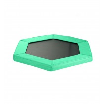 Cuscino di Protezione Bordo per Trampolino Elastico Esagonale da Fitness di Diametro 127 cm / 50 pollici | Verde