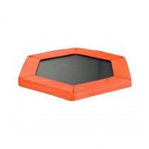 Cuscino di Protezione Bordo per Trampolino Elastico Esagonale da Fitness di Diametro 127 cm / 50 pollici | Arancione
