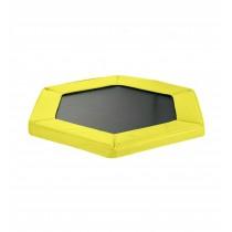 Cuscino di Protezione Bordo per Trampolino Elastico Esagonale da Fitness di Diametro 127 cm / 50 pollici | Giallo