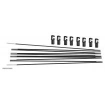 Paletti Flessibili in Vetroresina per Trampolino Elastico da Giardino da 396 cm | Aste di Ricambio - Cappuccetti Inclusi
