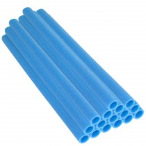 16 Tubi in Gommapiuma 84 x 3,8 cm   Schiuma, Spugna per Imbottitura e Protezione Pali di Trampolino Elastico   Blu
