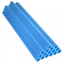 16 Tubi in Gommapiuma 84 x 2,54 cm   Schiuma, Spugna per Imbottitura e Protezione Pali di Trampolino Elastico   Blu