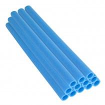 12 Tubi in Gommapiuma 112 x 3,8 cm   Schiuma, Spugna per Imbottitura e Protezione Pali di Trampolino Elastico   Blu