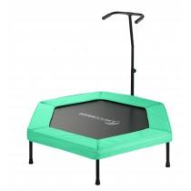 Mini Trampolino Tappeto Elastico Rebounder Esagonale, 127 cm. Fitness Palestra Allenamento Gym - Verde