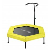 Mini Trampolino Tappeto Elastico Rebounder Esagonale, 127 cm. Fitness Palestra Allenamento Gym - Giallo