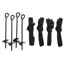 Kit di Viti Ancoraggio per Trampolino Tappeto Elastico da Giardino   4 Picchetti   Accessori