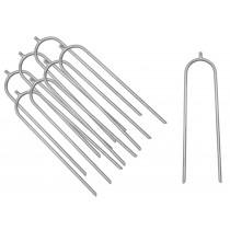 Kit di 8 Picchetti per Ancoraggio Trampolino Tappeto Elastico da Giardino   Ancore di Fissaggio   Accessori