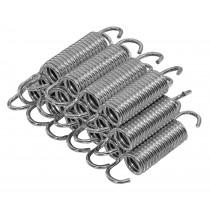 Set di 15 Molle Zincate a Spirale di Ricambio da 8,9 cm per Trampolino e Tappeto Elastico | Resistenti alla Ruggine