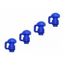 4 Cappucci Copri Pali per Trampolino Elastico da Giardino | Tappi di Ricambio per Palo di Rete | 1,5 pollici