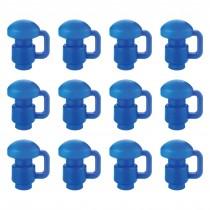 12 Cappucci Copri Pali per Trampolino Elastico da Giardino | Tappi di Ricambio per Palo di Rete | 1,5 pollici