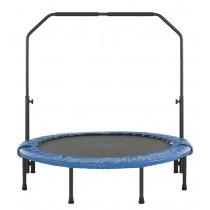 Mini Trampolino Tappeto Elastico da 122 cm per Fitness, Allenamento, Palestra, Interno - Pieghevole con Corrimano