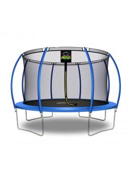 Trampolino Tappeto Elastico a Zucca da Giardino ed Esterno con Rete di Sicurezza - 366 cm - Blu   Moxie