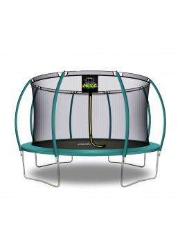 Trampolino Tappeto Elastico a Zucca da Giardino ed Esterno con Rete di Sicurezza - 427 cm - Verde Scuro | Moxie
