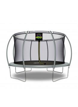 Trampolino Tappeto Elastico a Zucca da Giardino ed Esterno con Rete di Sicurezza - 427 cm - Grigio | Moxie