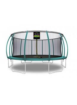 Trampolino Tappeto Elastico a Zucca da Giardino ed Esterno con Rete di Sicurezza - 488 cm - Verde Scuro | Moxie