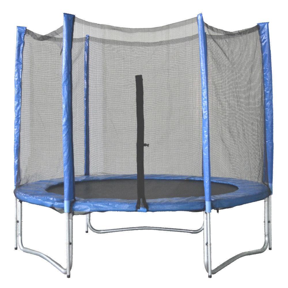 trampoline inside net
